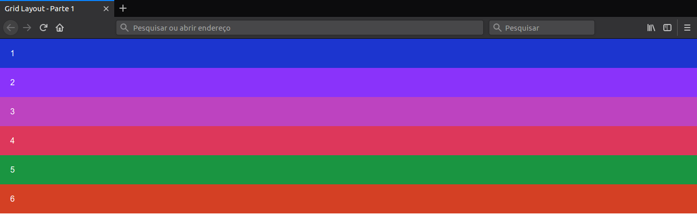 Resultado definindo grid
